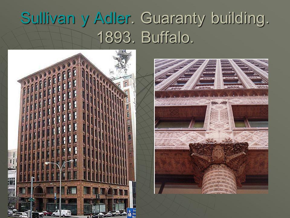 Sullivan y Adler. Guaranty building Buffalo.