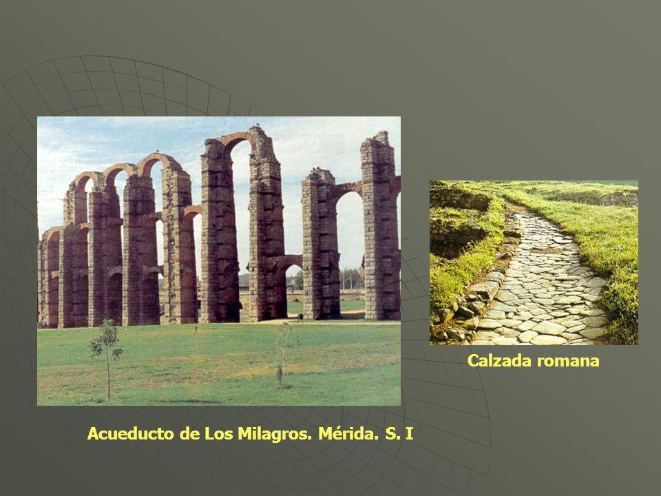 Calzada romana Acueducto de Los Milagros. Mérida. S. I