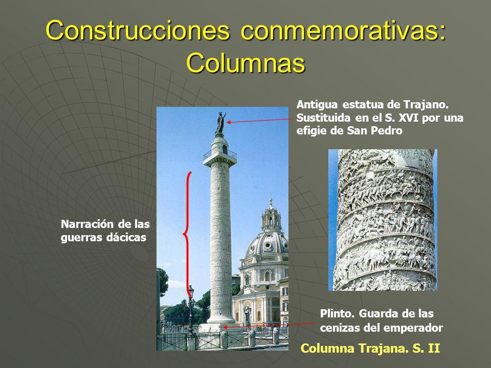 Construcciones conmemorativas: Columnas