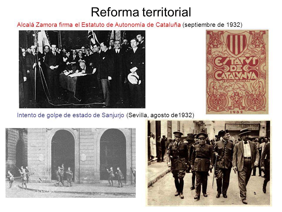 Reforma territorial Alcalá Zamora firma el Estatuto de Autonomía de Cataluña (septiembre de 1932)