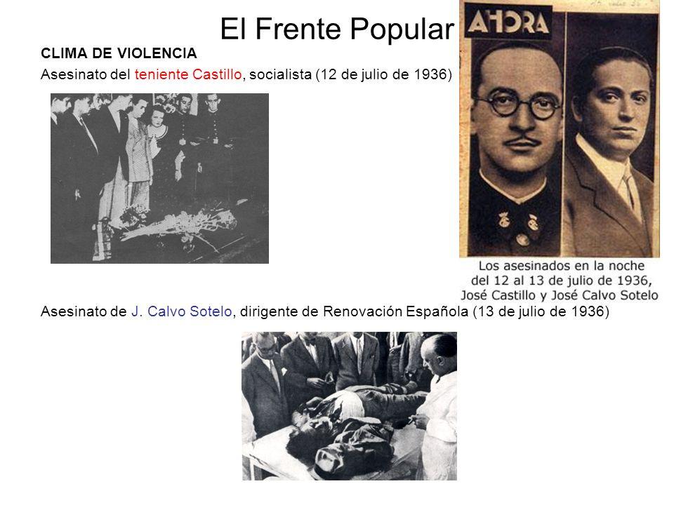 El Frente Popular CLIMA DE VIOLENCIA