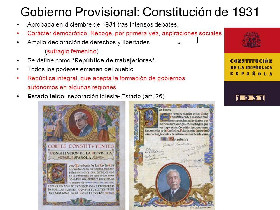 Gobierno Provisional: Constitución de 1931