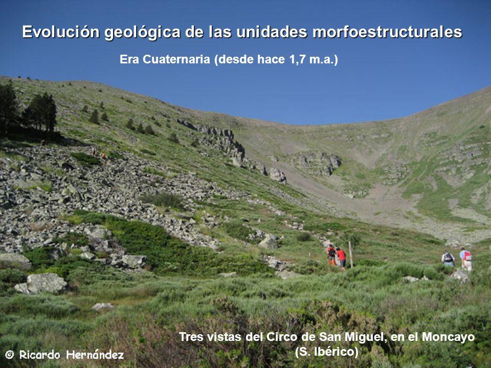 Tres vistas del Circo de San Miguel, en el Moncayo (S. Ibérico)