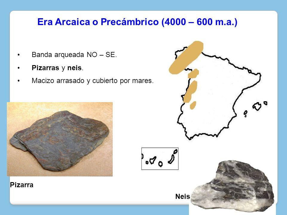 Era Arcaica o Precámbrico (4000 – 600 m.a.)