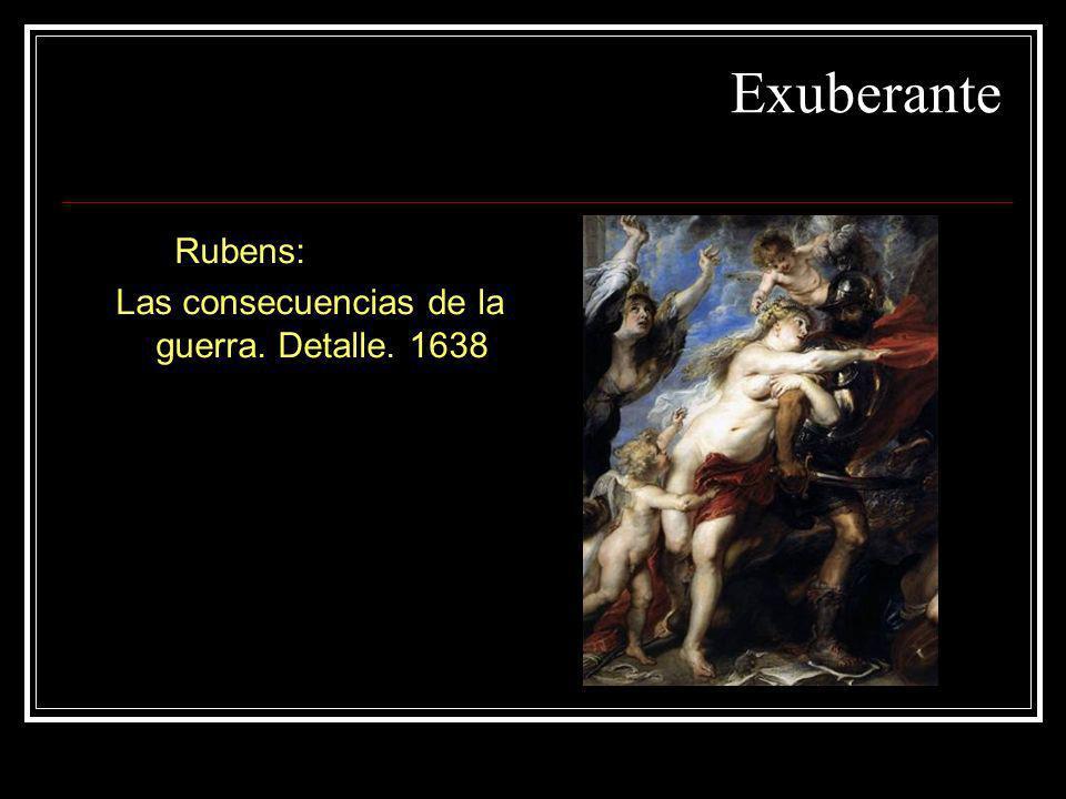 Exuberante Rubens: Las consecuencias de la guerra. Detalle. 1638