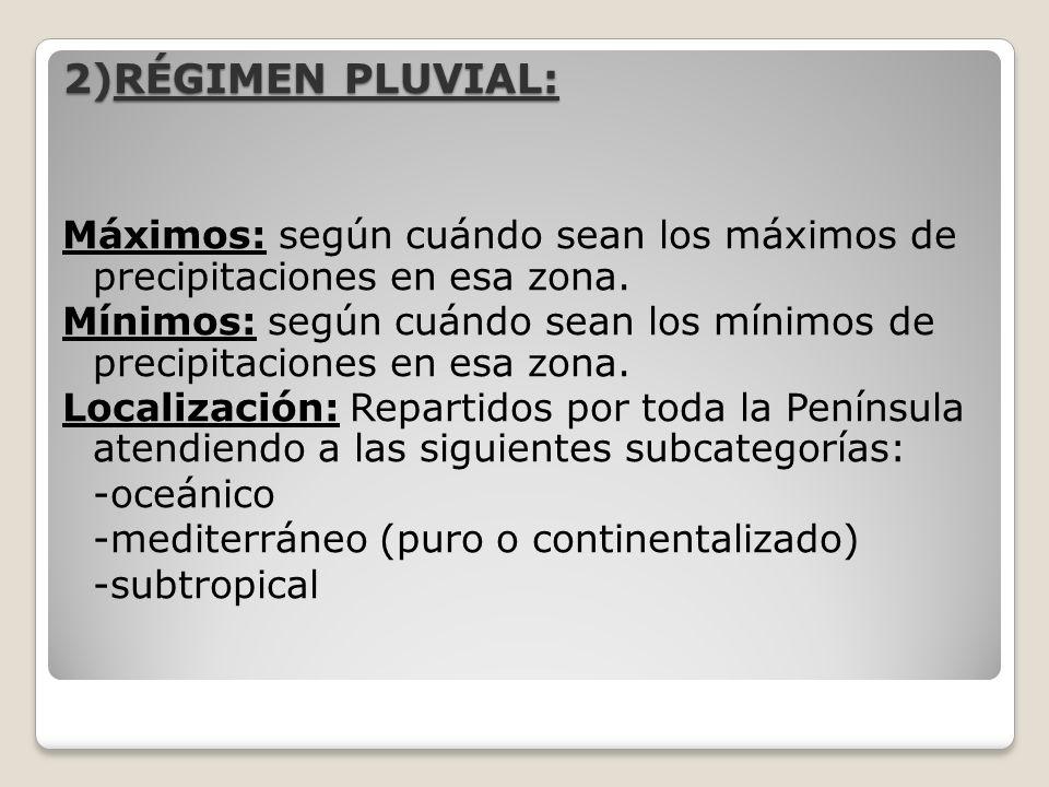 2)RÉGIMEN PLUVIAL: