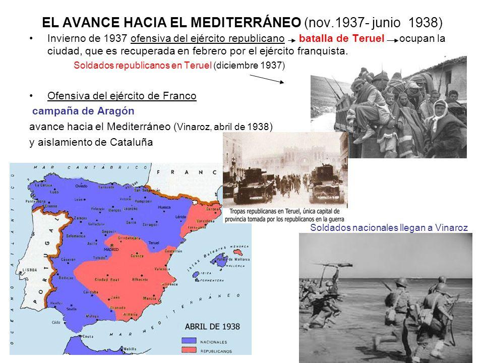 EL AVANCE HACIA EL MEDITERRÁNEO (nov.1937- junio 1938)