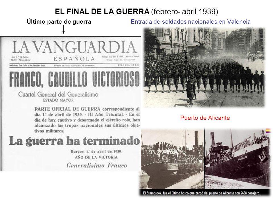 EL FINAL DE LA GUERRA (febrero- abril 1939)