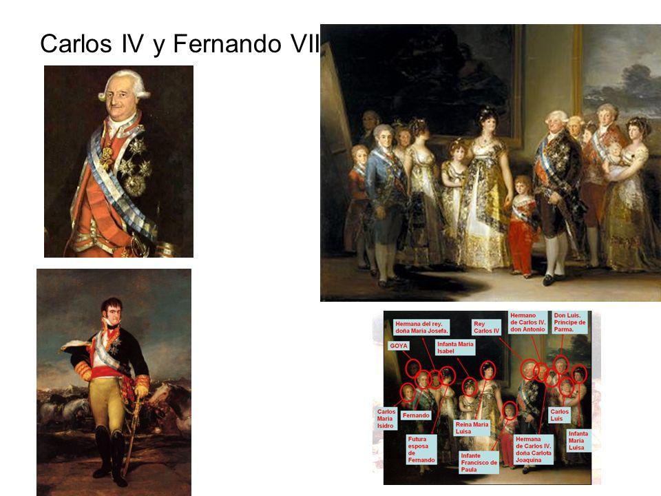 Carlos IV y Fernando VII