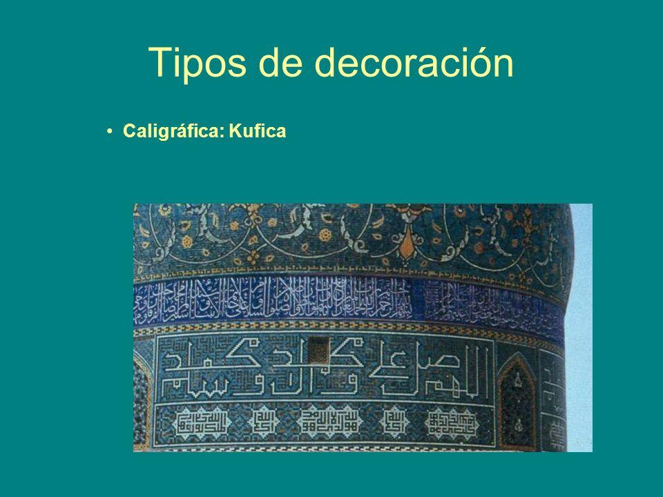 Tipos de decoración Caligráfica: Kufica
