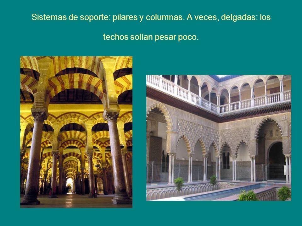 Sistemas de soporte: pilares y columnas