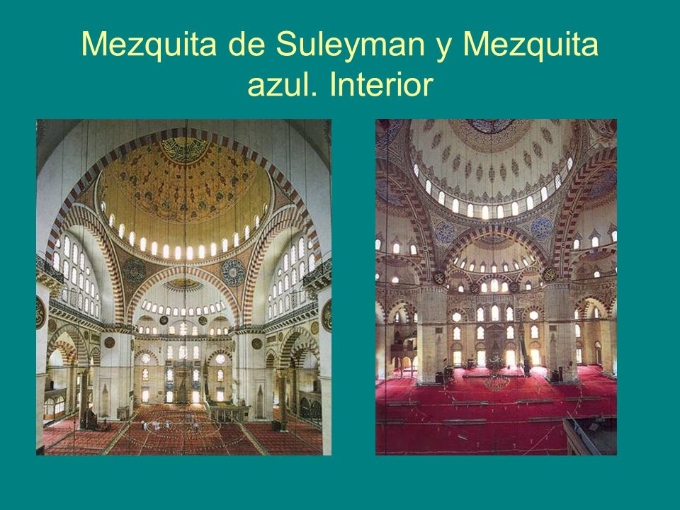 Mezquita de Suleyman y Mezquita azul. Interior
