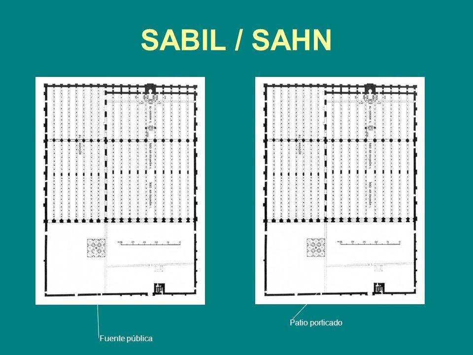 SABIL / SAHN Patio porticado Fuente pública