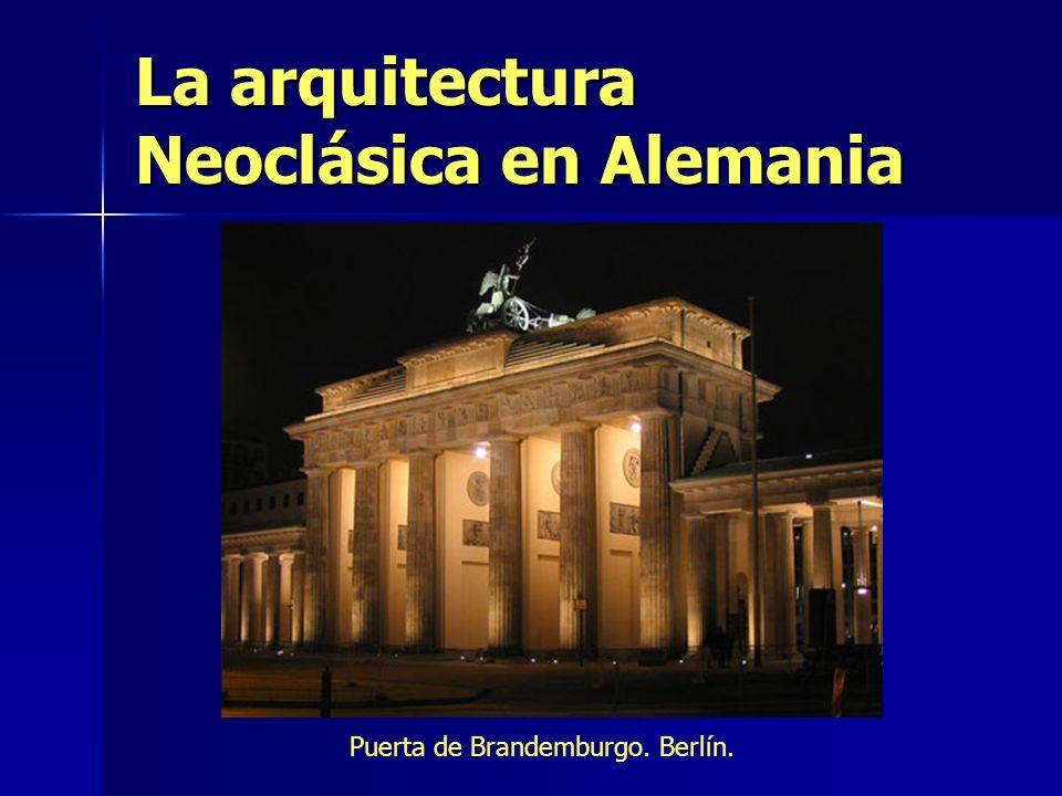 La arquitectura Neoclásica en Alemania