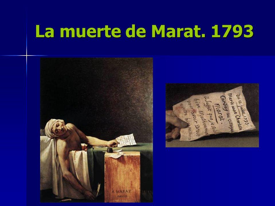 La muerte de Marat. 1793