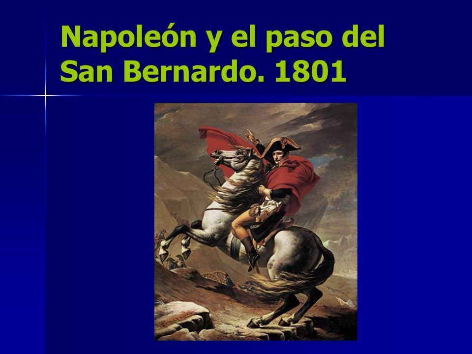 Napoleón y el paso del San Bernardo. 1801
