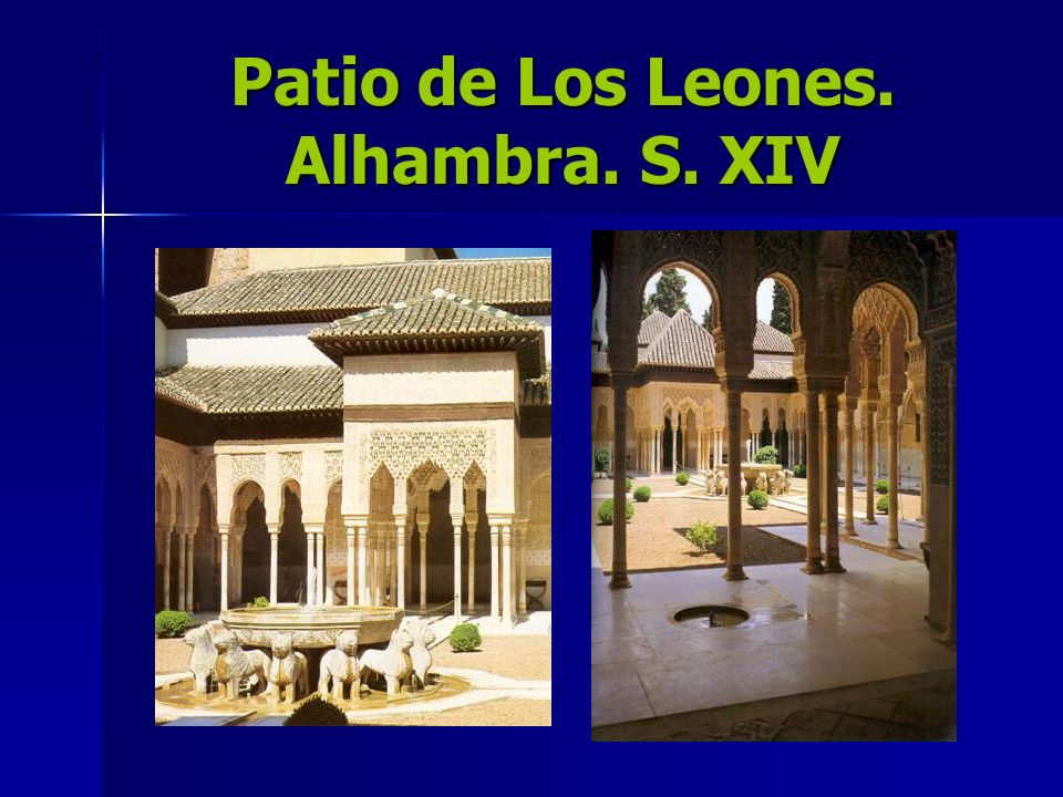 Patio de Los Leones. Alhambra. S. XIV