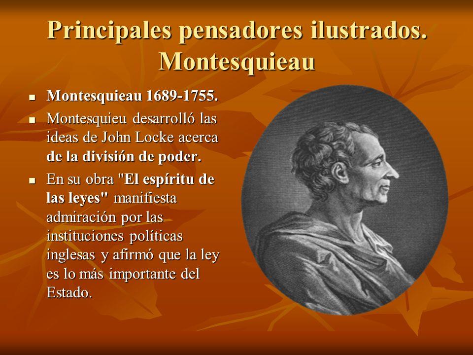 Principales pensadores ilustrados. Montesquieau