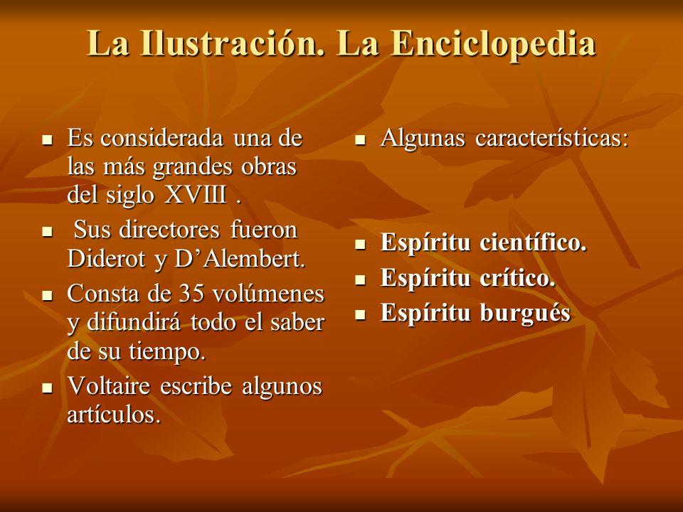 La Ilustración. La Enciclopedia