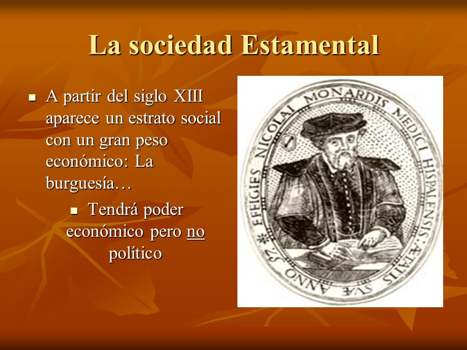La sociedad Estamental