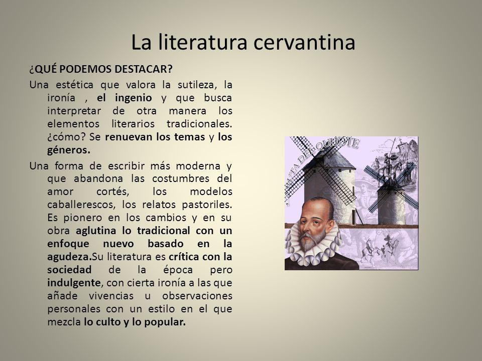 La literatura cervantina