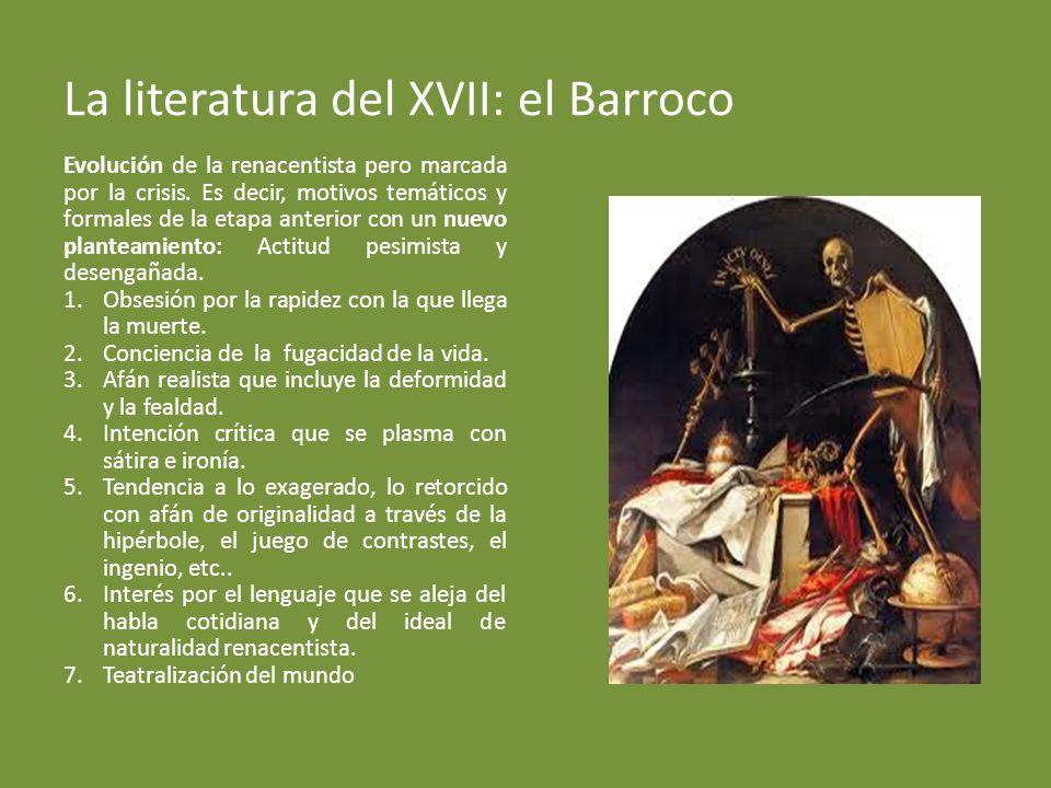La literatura del XVII: el Barroco