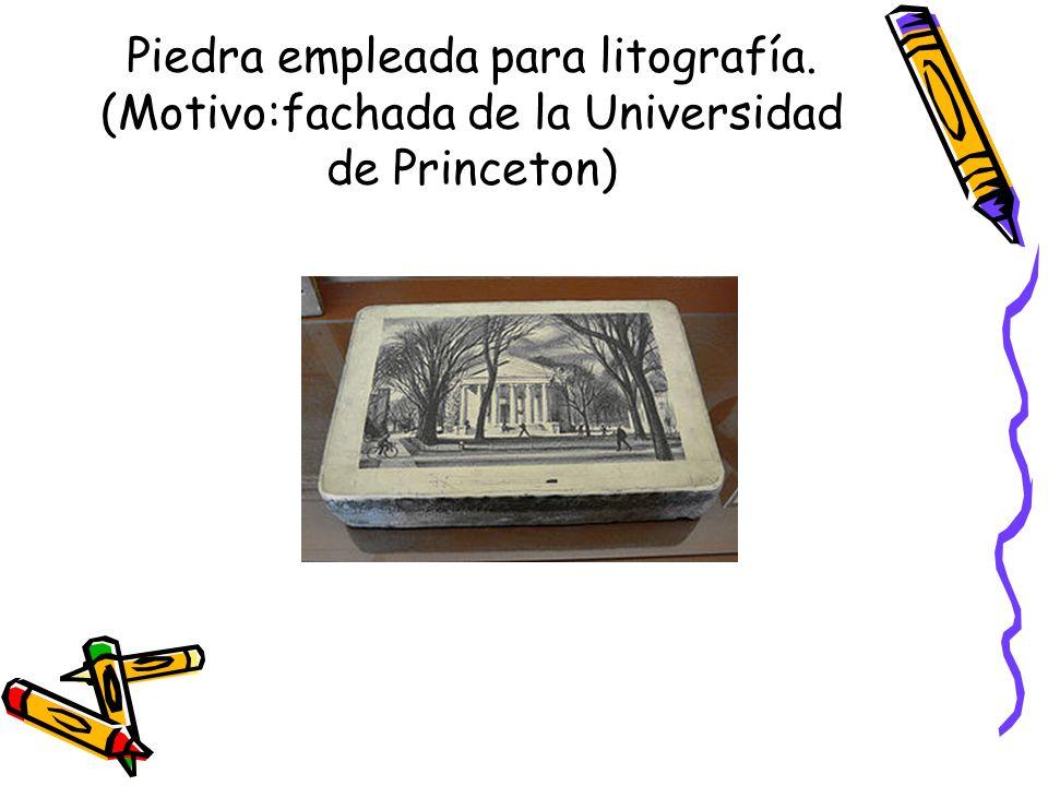 Piedra empleada para litografía