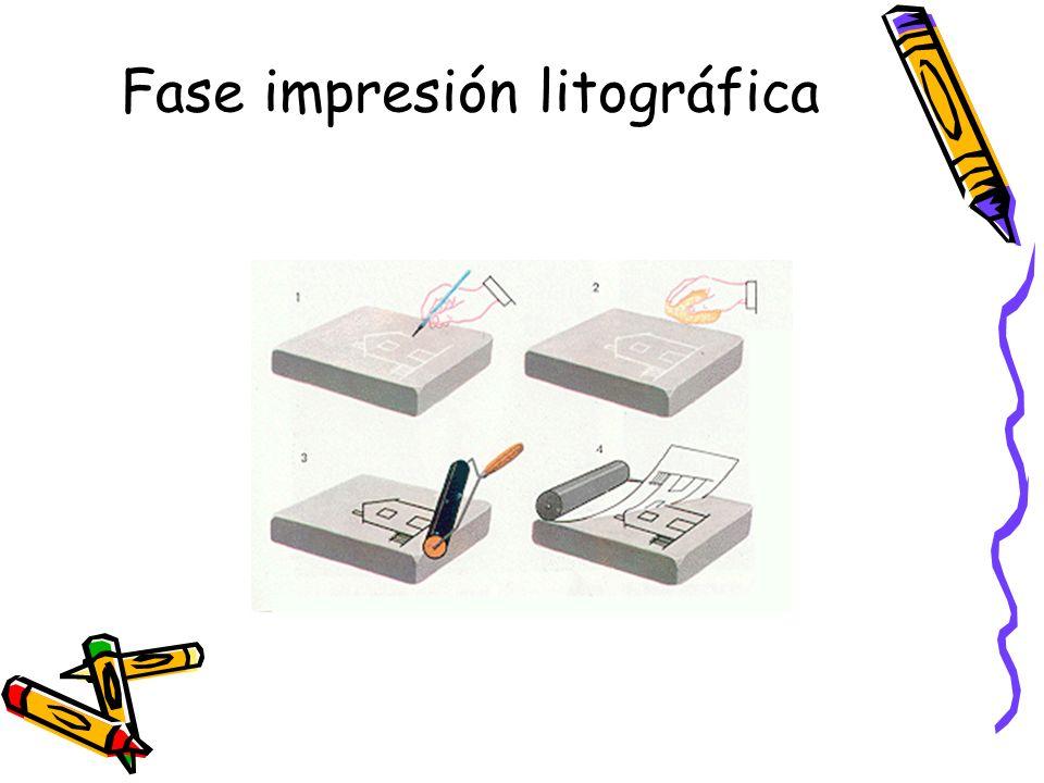 Fase impresión litográfica