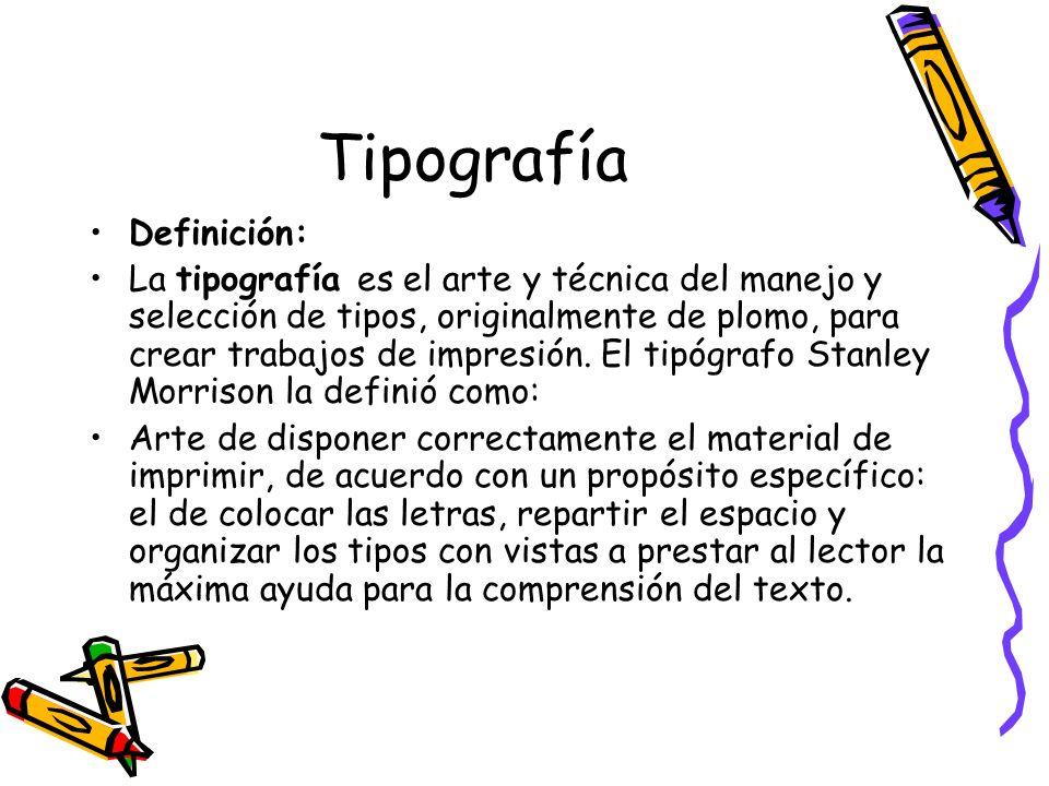 Tipografía Definición: