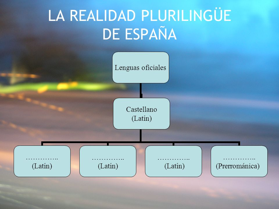 LA REALIDAD PLURILINGÜE DE ESPAÑA