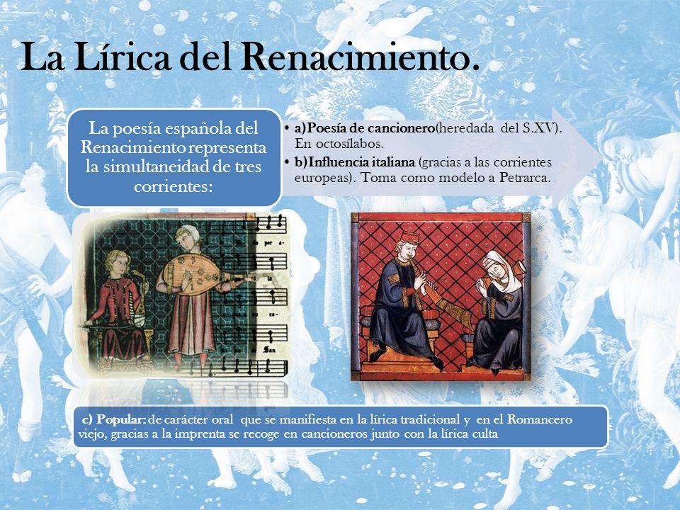 La Lírica del Renacimiento.