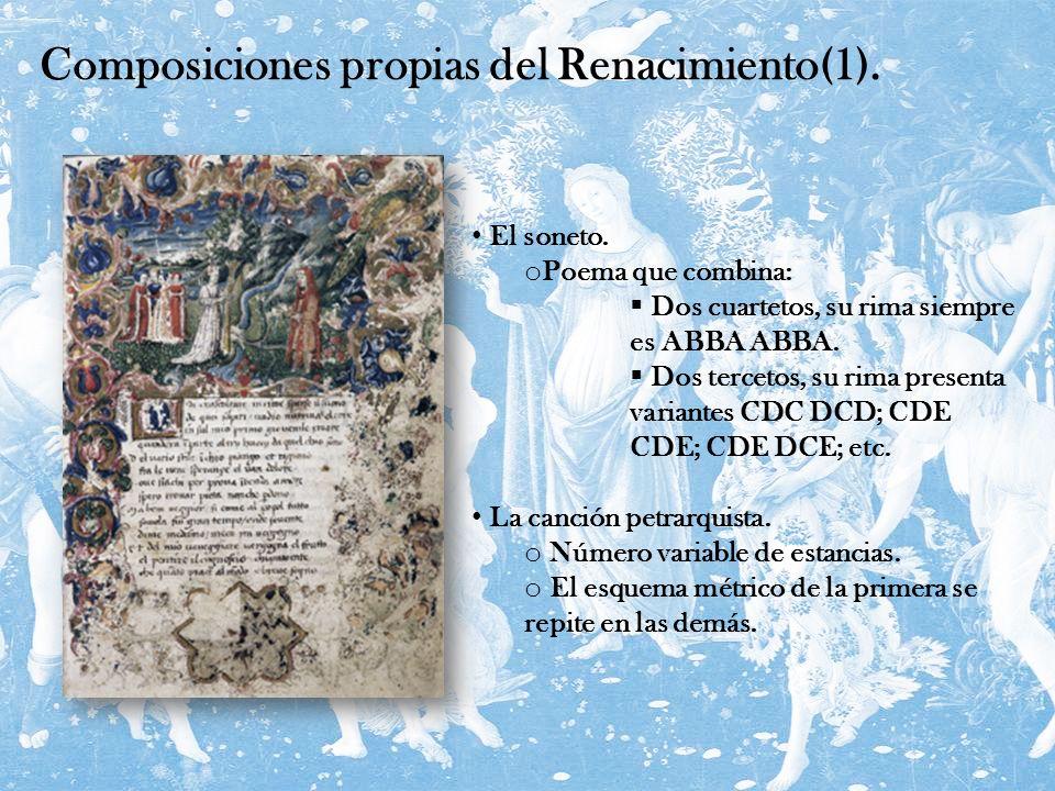 Composiciones propias del Renacimiento(1).