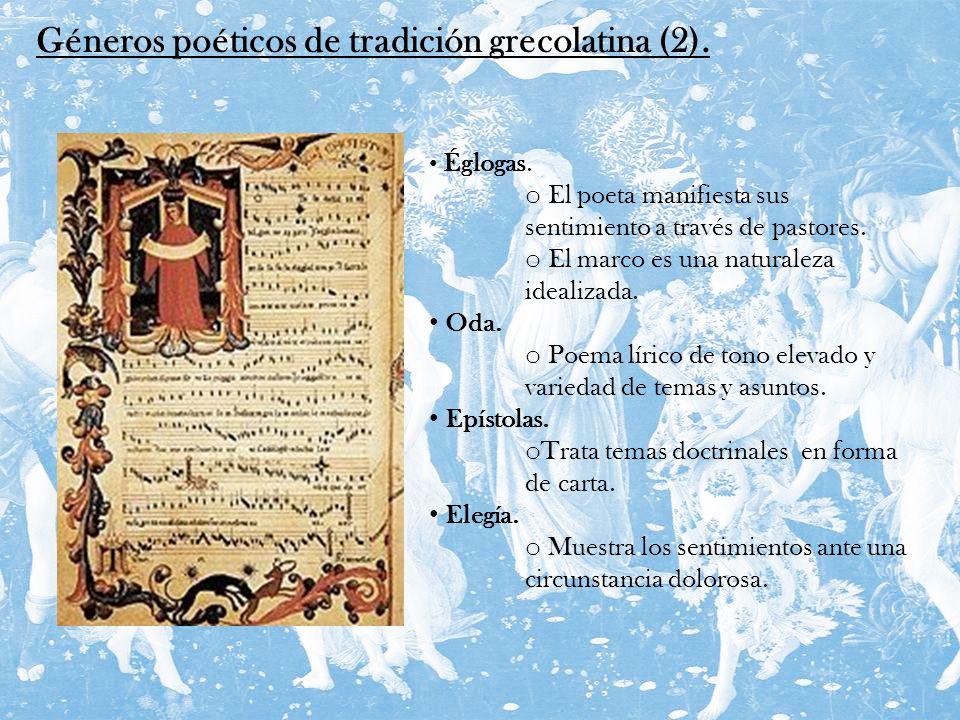 Géneros poéticos de tradición grecolatina (2).