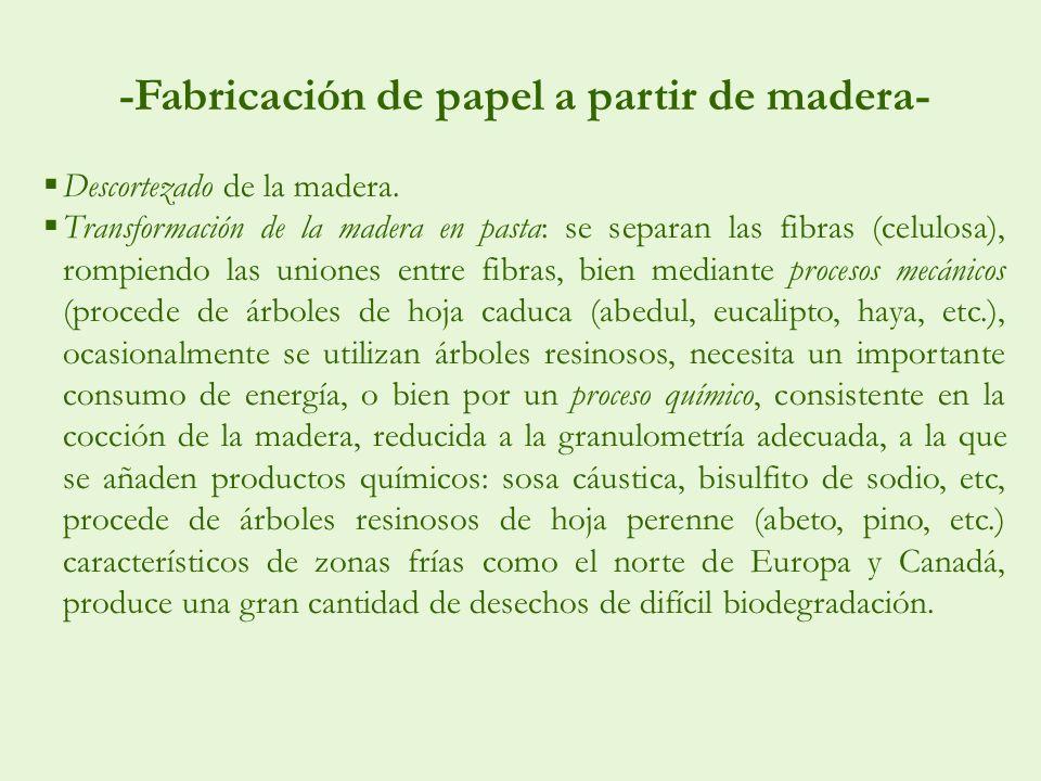 -Fabricación de papel a partir de madera-