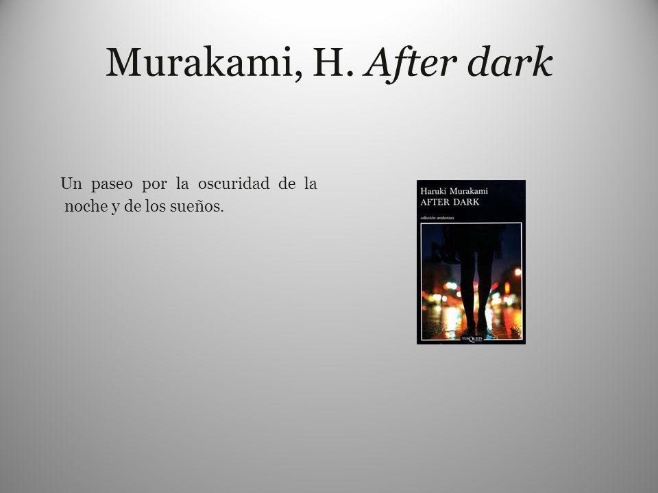Murakami, H. After dark Un paseo por la oscuridad de la noche y de los sueños.