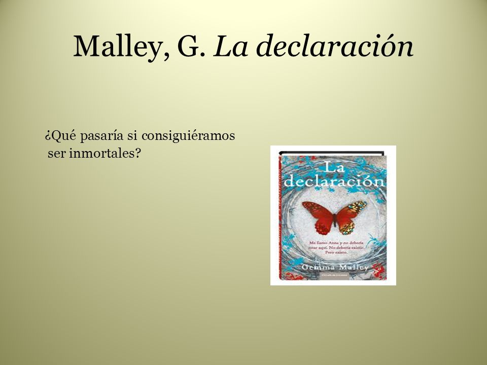 Malley, G. La declaración