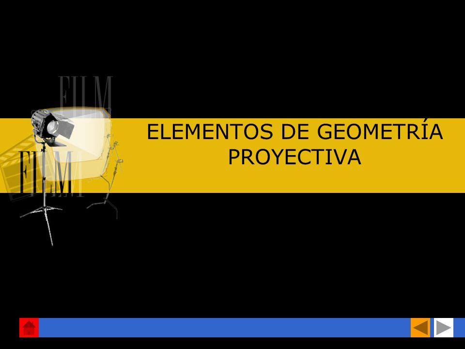 ELEMENTOS DE GEOMETRÍA PROYECTIVA