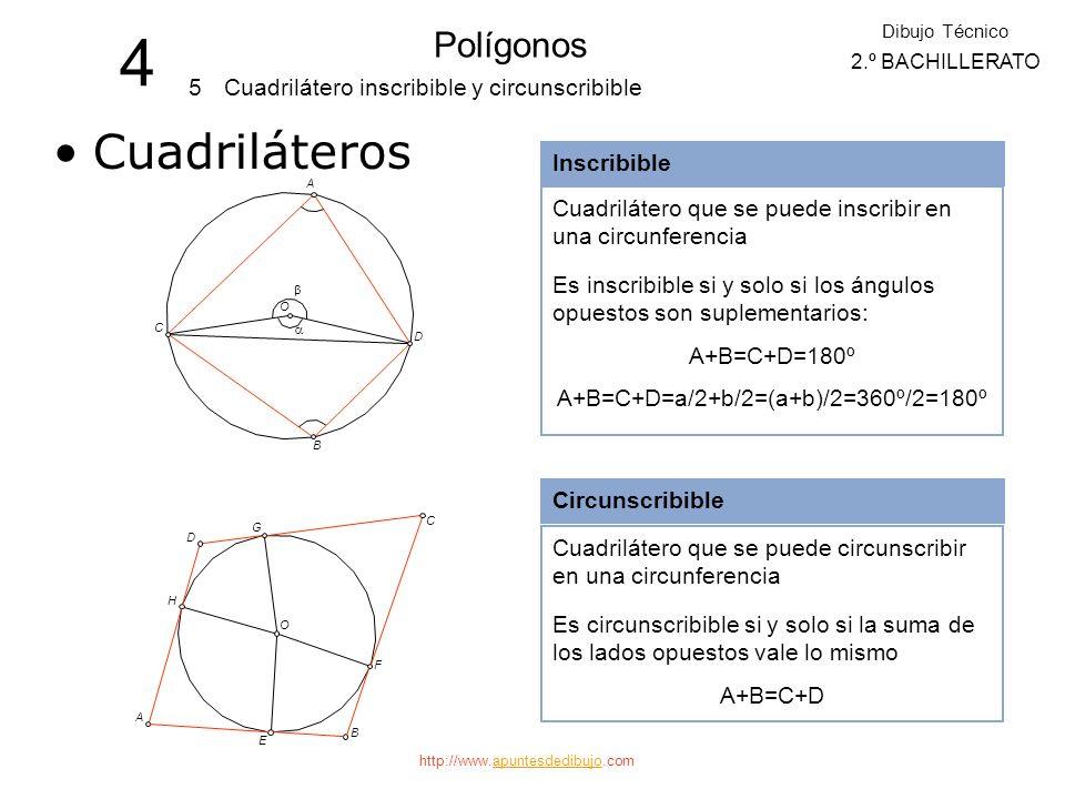 A+B=C+D=a/2+b/2=(a+b)/2=360º/2=180º