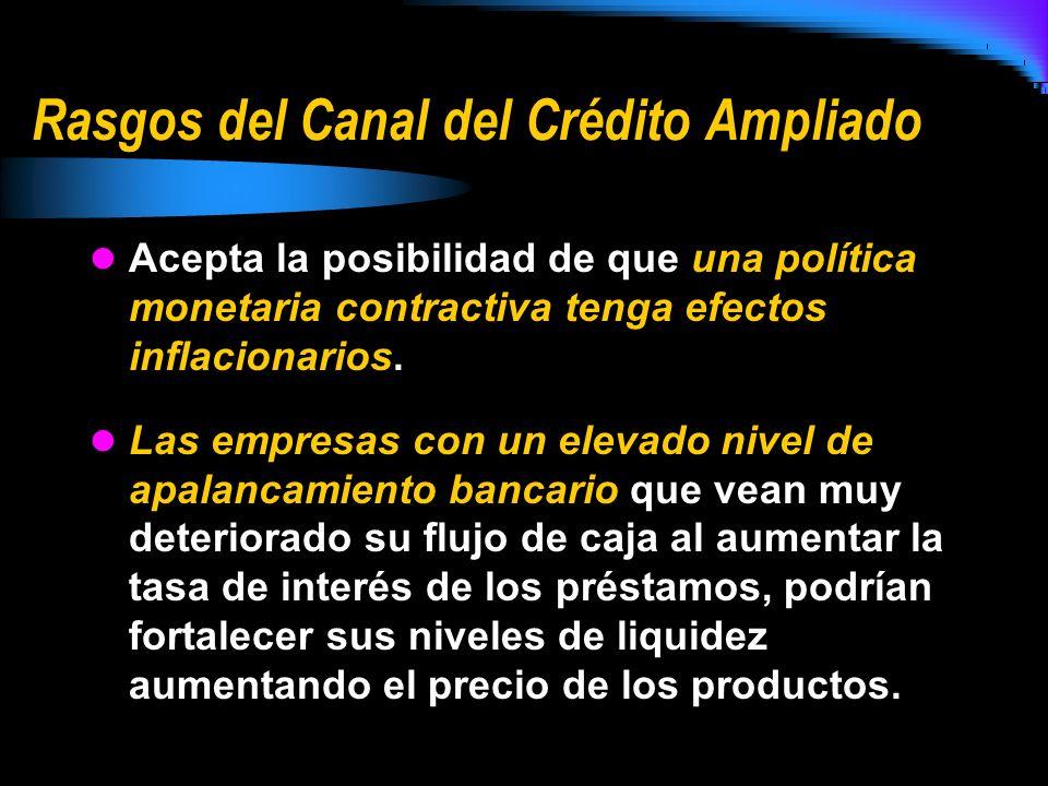 Rasgos del Canal del Crédito Ampliado