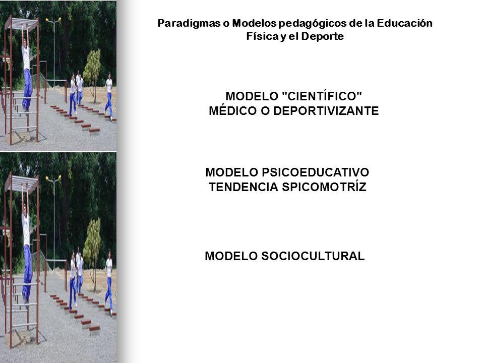 MODELO CIENTÍFICO MODELO PSICOEDUCATIVO TENDENCIA SPICOMOTRÍZ