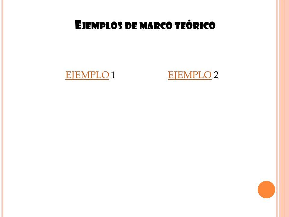 Ejemplos de marco teórico