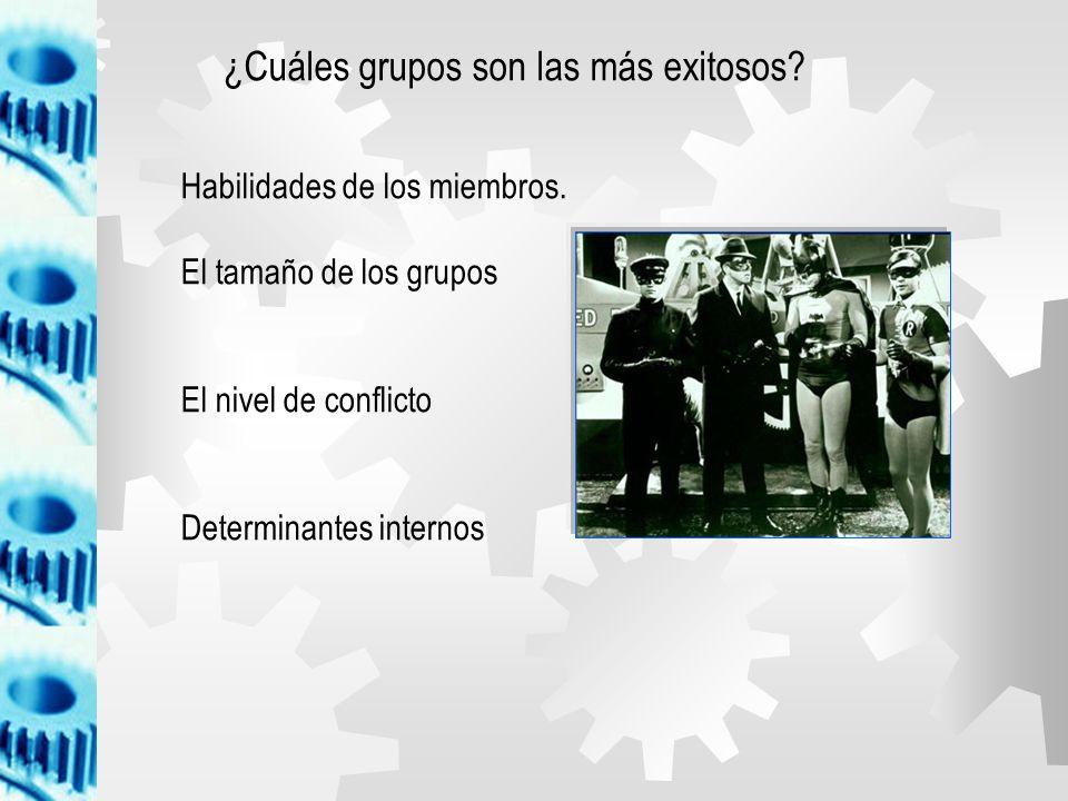 ¿Cuáles grupos son las más exitosos
