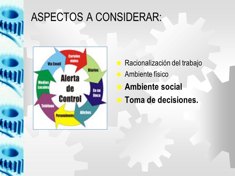ASPECTOS A CONSIDERAR: