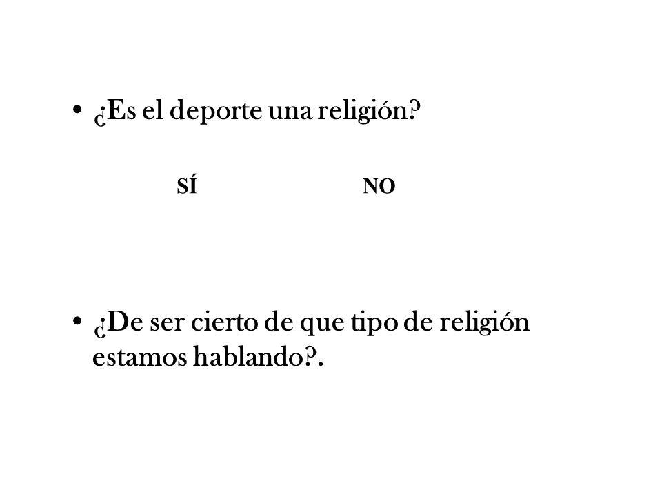 ¿Es el deporte una religión