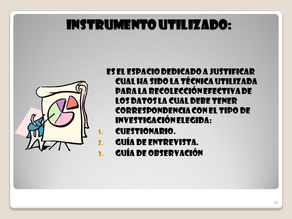 Instrumento Utilizado: