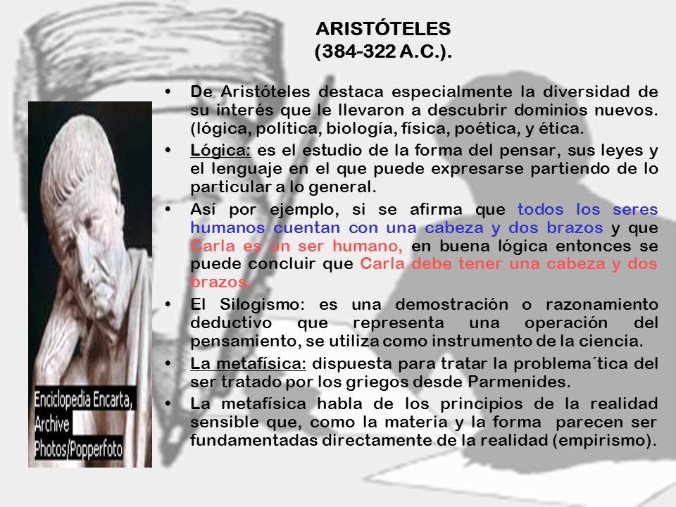 ARISTÓTELES (384-322 A.C.).