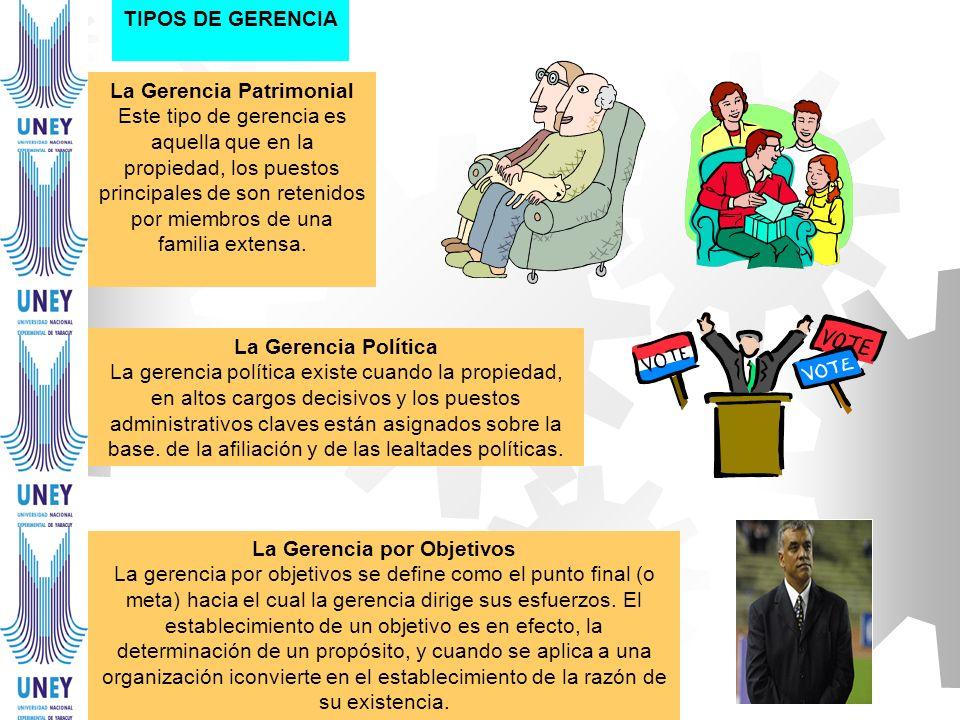 TIPOS DE GERENCIA