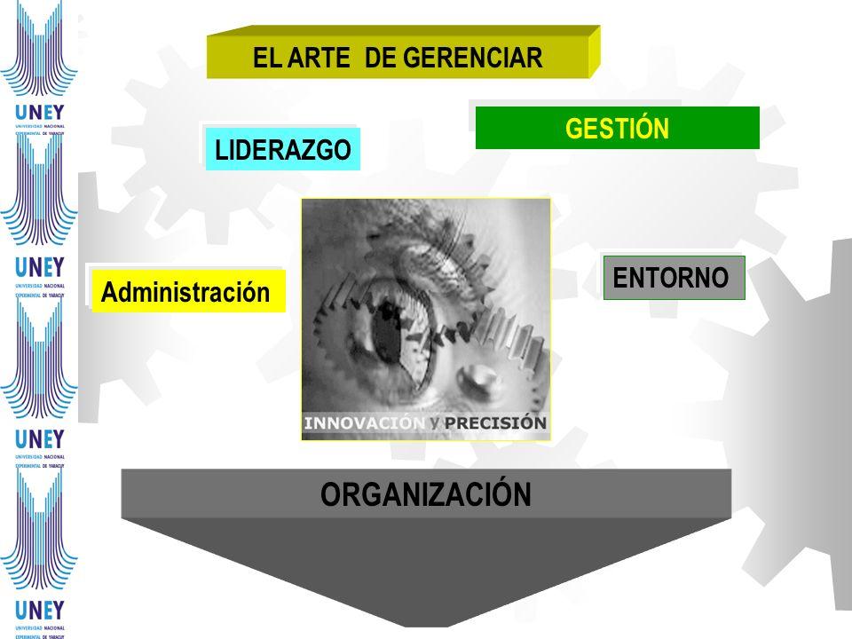 ORGANIZACIÓN EL ARTE DE GERENCIAR GESTIÓN LIDERAZGO ENTORNO