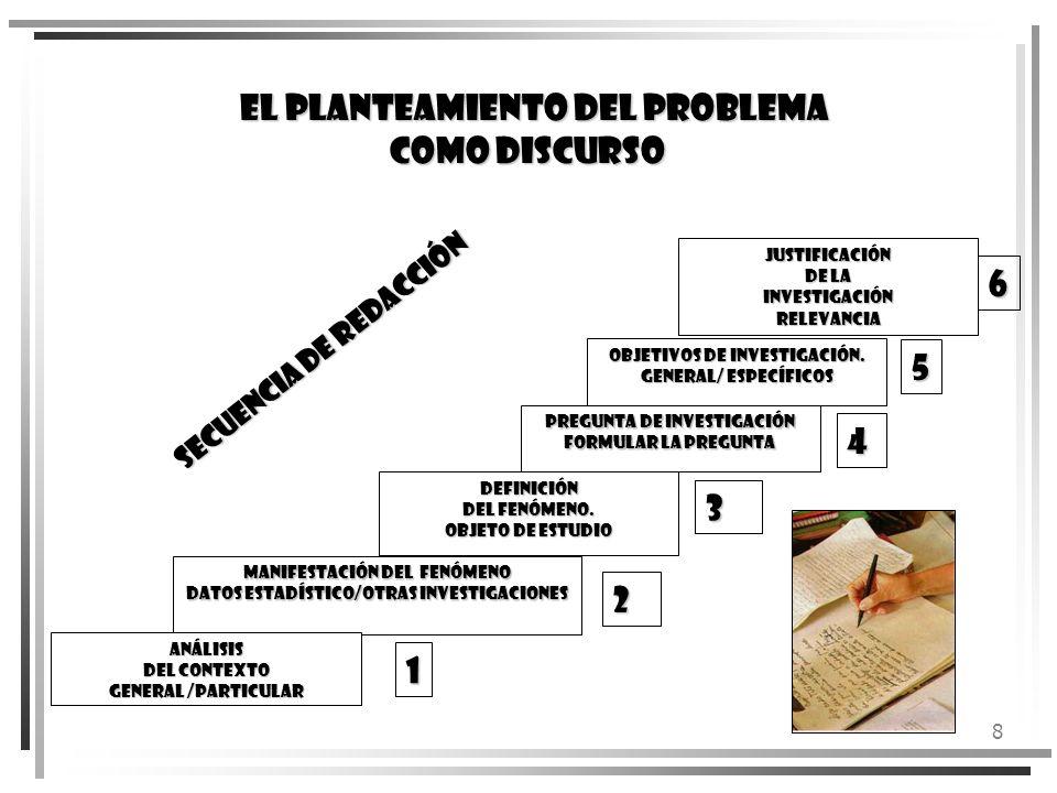 EL PLANTEAMIENTO DEL PROBLEMA COMO DISCURSO