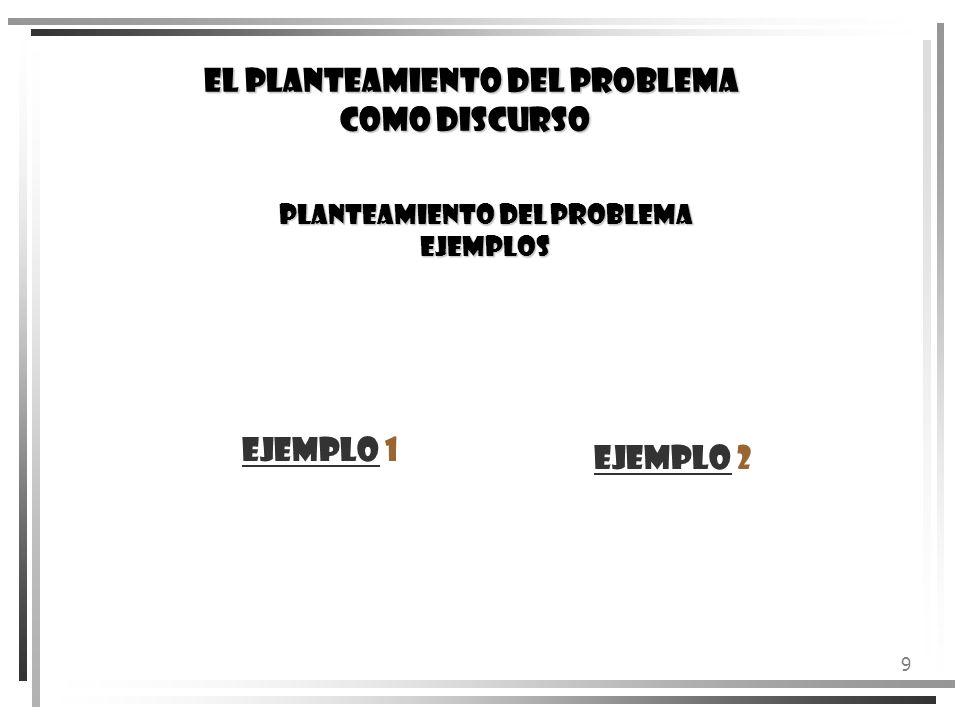PLANTEAMIENTO DEL PROBLEMA EJEMPLOS